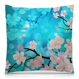 """Подушка 40х40 с полной запечаткой """"Цветущее дерево"""" - цветы, весна, деревья, природа, цветочки"""