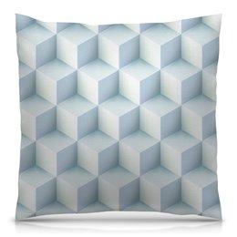 """Подушка 40х40 с полной запечаткой """"Кубическая иллюзия"""" - абстракция, стильный, квадратный, иллюзия, кубизм"""
