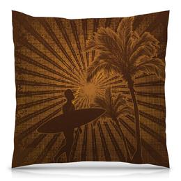 """Подушка 40х40 с полной запечаткой """"Гавайи"""" - стиль, рисунок, пальмы, гавайи, гавайский"""