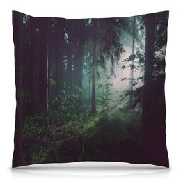 """Подушка 40х40 с полной запечаткой """"Природа леса"""" - лес, деревья, природа, пейзаж, трава"""