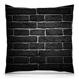 """Подушка 40х40 с полной запечаткой """"Кирпичная"""" - узор, орнамент, стена, камень, кирпич"""