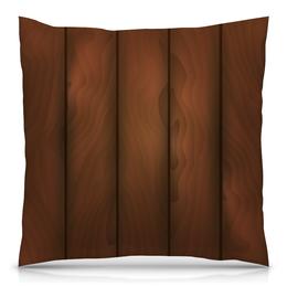 """Подушка 40х40 с полной запечаткой """"Деревянная"""" - арт, дерево, wood, деревянная"""
