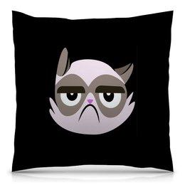 """Подушка 40х40 с полной запечаткой """"Котенок"""" - кот, животные, котенок, коты, мемы"""