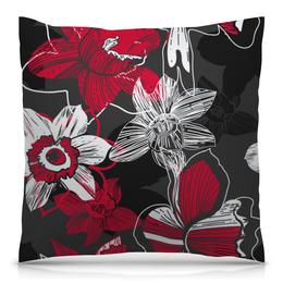 """Подушка 40х40 с полной запечаткой """"Цветочный узор"""" - гранж, арт, цветы, цветок, цветочный"""