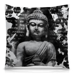 """Подушка 40х40 с полной запечаткой """"Будда (Письмена)"""" - философия, религия, буквы, будда, буддизм"""
