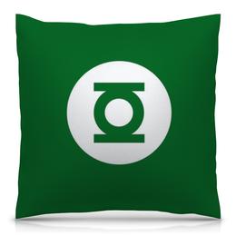 """Подушка 40х40 с полной запечаткой """"Зелёный Фонарь"""" - зелёный фонарь, комиксы"""
