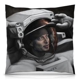 """Подушка 40х40 с полной запечаткой """"Илон Маск"""" - космос, вселенная, thespaceway, spacex, маск"""