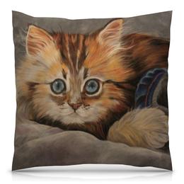 """Подушка 40х40 с полной запечаткой """"котенок Фантик"""" - котенок, котики, пушистик, ты мой котенок, нежный котик"""