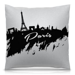 """Подушка 40х40 с полной запечаткой """"Париж"""" - париж, paris"""