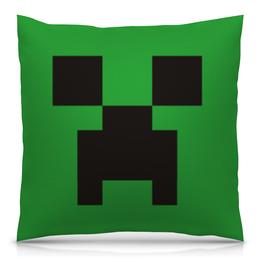 """Подушка 40х40 с полной запечаткой """"Minecraft"""" - майнкрафт, крипер"""