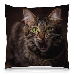 """Подушка 40х40 с полной запечаткой """"Кошка"""" - кошка, кот, cat, портрет"""