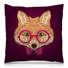 "Подушка 40х40 с полной запечаткой ""Лиса ( Fox)"" - fox, лиса, животное, лисичка"