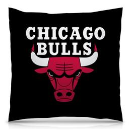 "Подушка 40х40 с полной запечаткой ""Чикаго Буллз"" - спорт, баскетбол, chicago bulls, чикаго буллз"