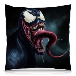 "Подушка 40х40 с полной запечаткой ""Веном (Venom)"" - веном"