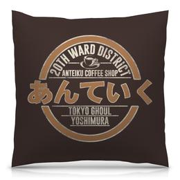 """Подушка 40х40 с полной запечаткой """"Антейку. Токийский гуль"""" - аниме, манга, токийский гуль, tokyo ghoul, антейку"""