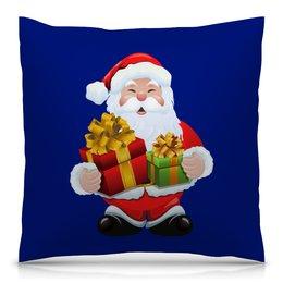 """Подушка 40х40 с полной запечаткой """"Новый год"""" - праздник, новый год, зима, дед мороз, санта"""