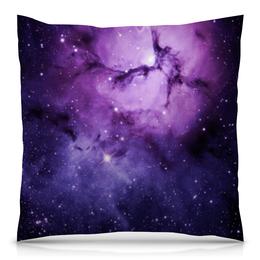 """Подушка 40х40 с полной запечаткой """"Космос"""" - space, звезды, ночь, небо"""