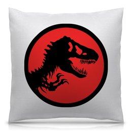 """Подушка 40х40 с полной запечаткой """"Jurassic Park"""" - фильмы, динозавры, парк юрского периода, jurassic park"""