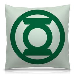 """Подушка 40х40 с полной запечаткой """"зеленый фонарь"""" - comics, комиксы, dc, зеленый фонарь"""