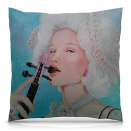 """Подушка 40х40 с полной запечаткой """"Каприз"""" - стильная, скрипка, флирт, прованс, рококо"""