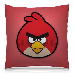 """Подушка 40х40 с полной запечаткой """"Angry Birds"""" - red, птицы, angry birds, энгри бёрдс, злые птицы"""