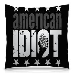 """Подушка 40х40 с полной запечаткой """"Америка"""" - сердце, звезды, америка, надписи, буквы"""