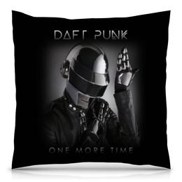 "Подушка 40х40 с полной запечаткой ""Daft Punk"" - музыка, хаус, электроника, daft punk, дафт панк"