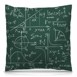 """Подушка 40х40 с полной запечаткой """"Математика"""" - символы, математика, формулы, графики, константы"""