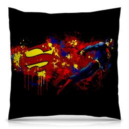 """Подушка 40х40 с полной запечаткой """"Человек из стали"""" - comics, супермен, superman, dc, супер герой"""
