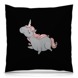 """Подушка 40х40 с полной запечаткой """"Единорог"""" - лошадь, рисунок, мульт, кони, единорог"""
