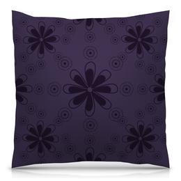 """Подушка 40х40 с полной запечаткой """"Фиолетовая"""" - цветы, узор, стиль, рисунок, цветочный"""