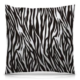 """Подушка 40х40 с полной запечаткой """"Зебра"""" - узор, стиль, зебра, рисунок, звериный"""