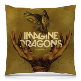 """Подушка 40х40 с полной запечаткой """"Imagine Dragons"""" - музыка, группа, рисунок"""