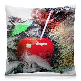 """Подушка 40х40 с полной запечаткой """"Яблочный микс"""" - напиток, абстракция, яблоко, фрукт, натюрморт"""