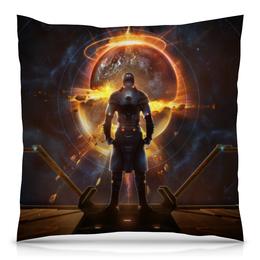 """Подушка 40х40 с полной запечаткой """"Starpoint Gemini Warlords"""" - игра, планета, космос, взрыв, компьютерная игра"""