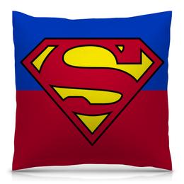 """Подушка 40х40 с полной запечаткой """"Супермен"""" - comics, супермен, комиксы, dc"""