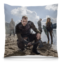 """Подушка 40х40 с полной запечаткой """"Викинги"""" - история, викинги, vikings, путь воина, сериал викинги"""
