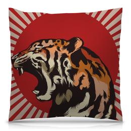 """Подушка 40х40 с полной запечаткой """"Тигр арт"""" - арт, tiger, тигр, звери, дикая природа"""