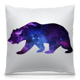 """Подушка 40х40 с полной запечаткой """"Space animals"""" - space, bear, медведь, космос, астрономия"""
