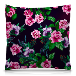 """Подушка 40х40 с полной запечаткой """"Розы в цвету"""" - цветы, весна, сад, розы, букет"""