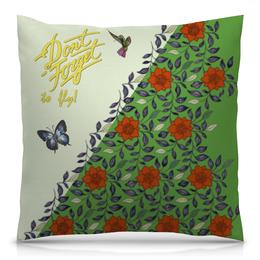 """Подушка 40х40 с полной запечаткой """"Не забывайте летать! С бабочками. Вариант №171127a"""" - бабочки, орнамент, butterfly, vintage, to fly"""