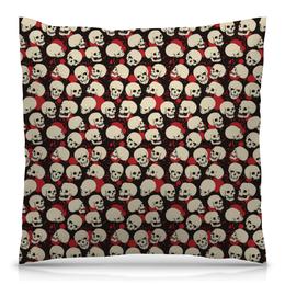 "Подушка 40х40 с полной запечаткой ""Skull Art"" - skull, skulls, череп, черепа, арт"