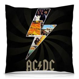 """Подушка 40х40 с полной запечаткой """"AC/DC"""" - ac dc, рок звезды"""