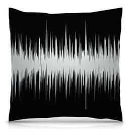 """Подушка 40х40 с полной запечаткой """"Черно-белый узор"""" - узор, абстракция, черно-белые, текстура, линии"""