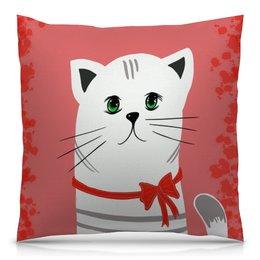 """Подушка 40х40 с полной запечаткой """"Ласковый зверь. Кот.Котик. Кошечка"""" - кот, котик, кошечка, животное, домашний"""