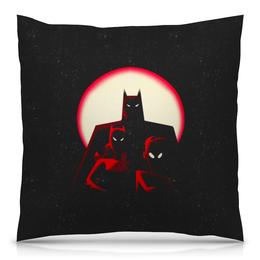 """Подушка 40х40 с полной запечаткой """"Бэтмен"""" - batman, бэтмен, супергерой, летучая мышь, брюс уэйн"""