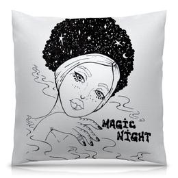 """Подушка 40х40 с полной запечаткой """"Magic night / Волшебной ночи"""" - любовь, арт, девушка, красота"""