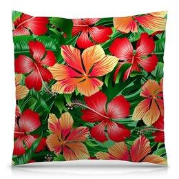 """Подушка 40х40 с полной запечаткой """"Сад цветов"""" - цветочки, природа, лето, весна, цветы"""
