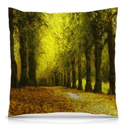 """Подушка 40х40 с полной запечаткой """"Листопад"""" - листья, осень, деревья, природа, листопад"""