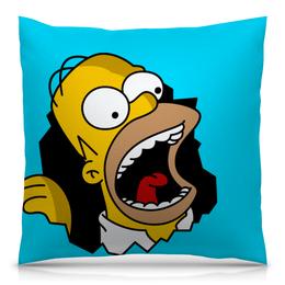 """Подушка 40х40 с полной запечаткой """"Гомер Симпсон"""" - simpsons, homer, прикольные, гомер симпсон, симпспоны"""